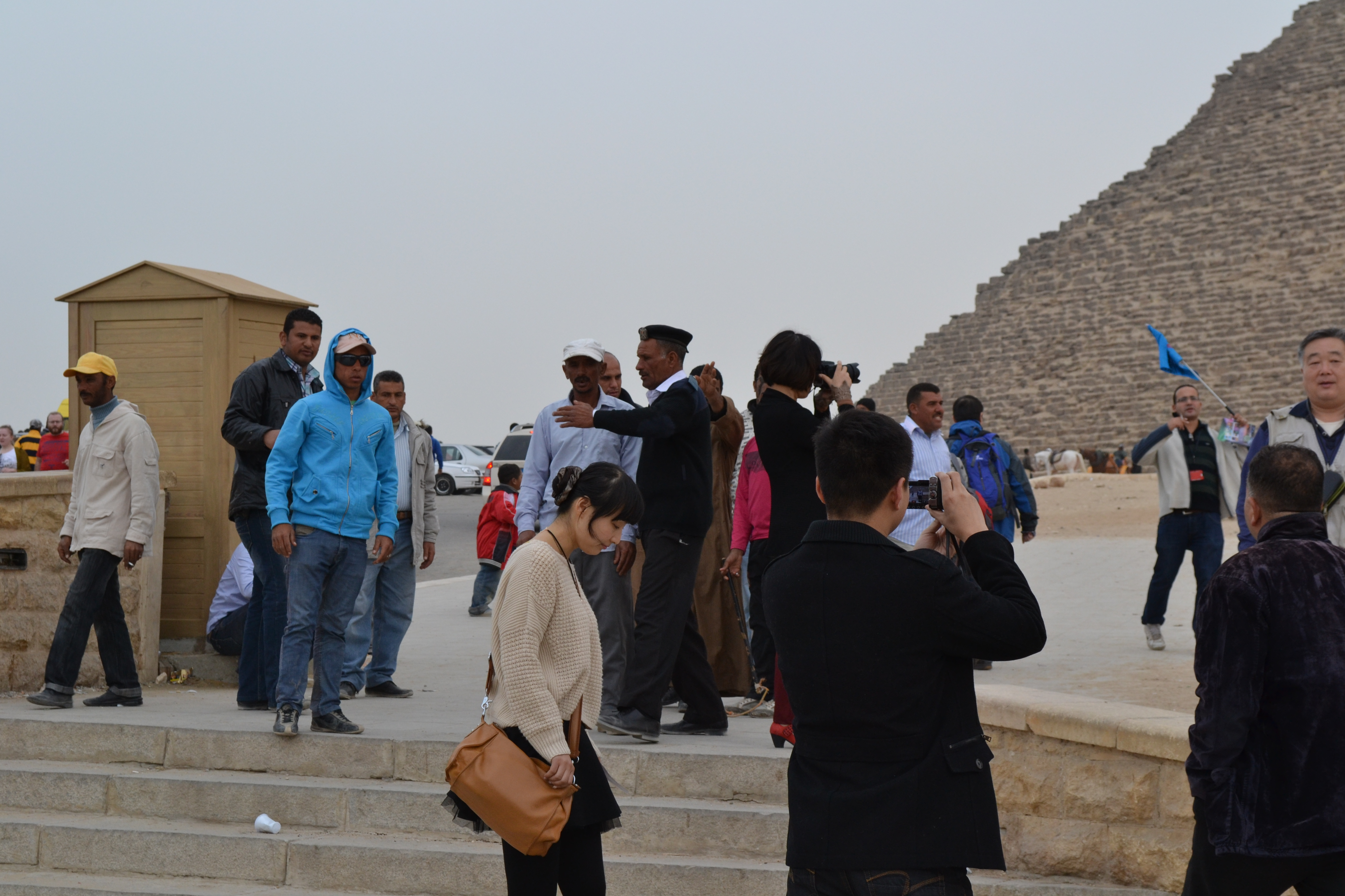 Merchants waiting for tourists to step into the complex. More harassment awaits!