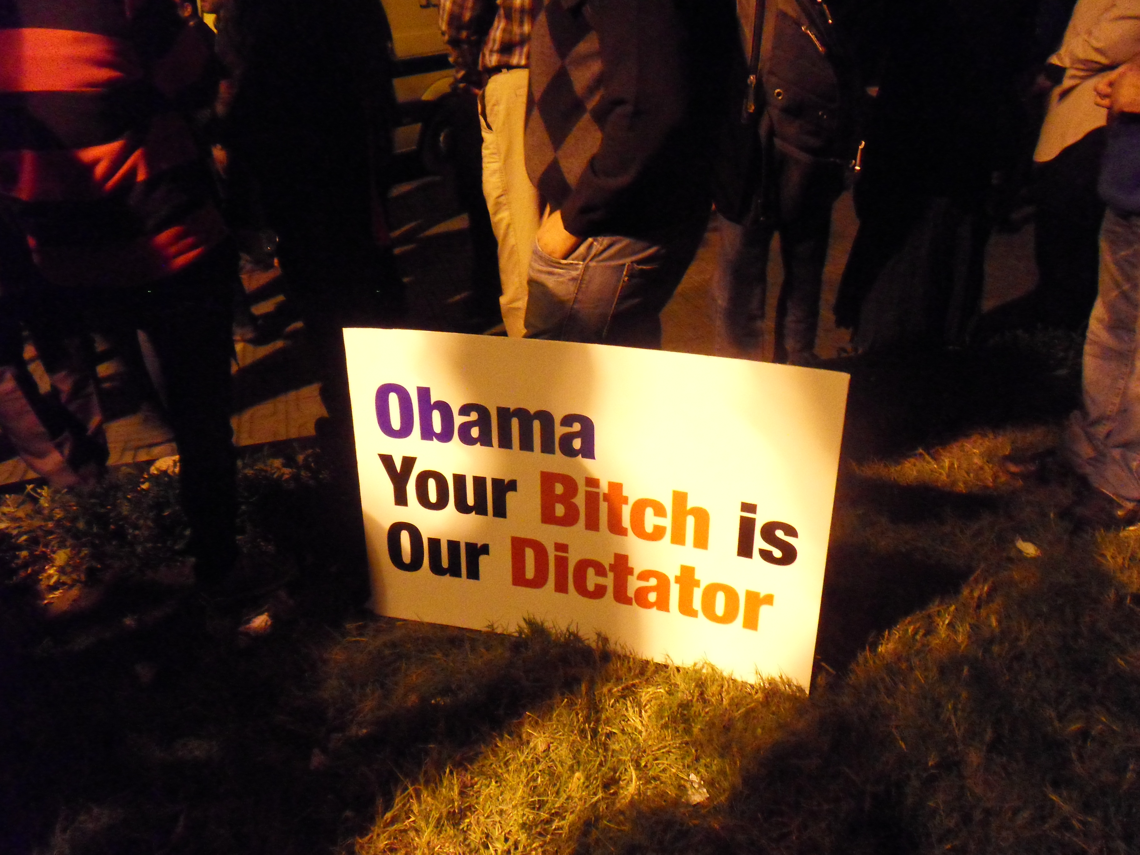 """Obama. Your Bitch is Our Dictator."""