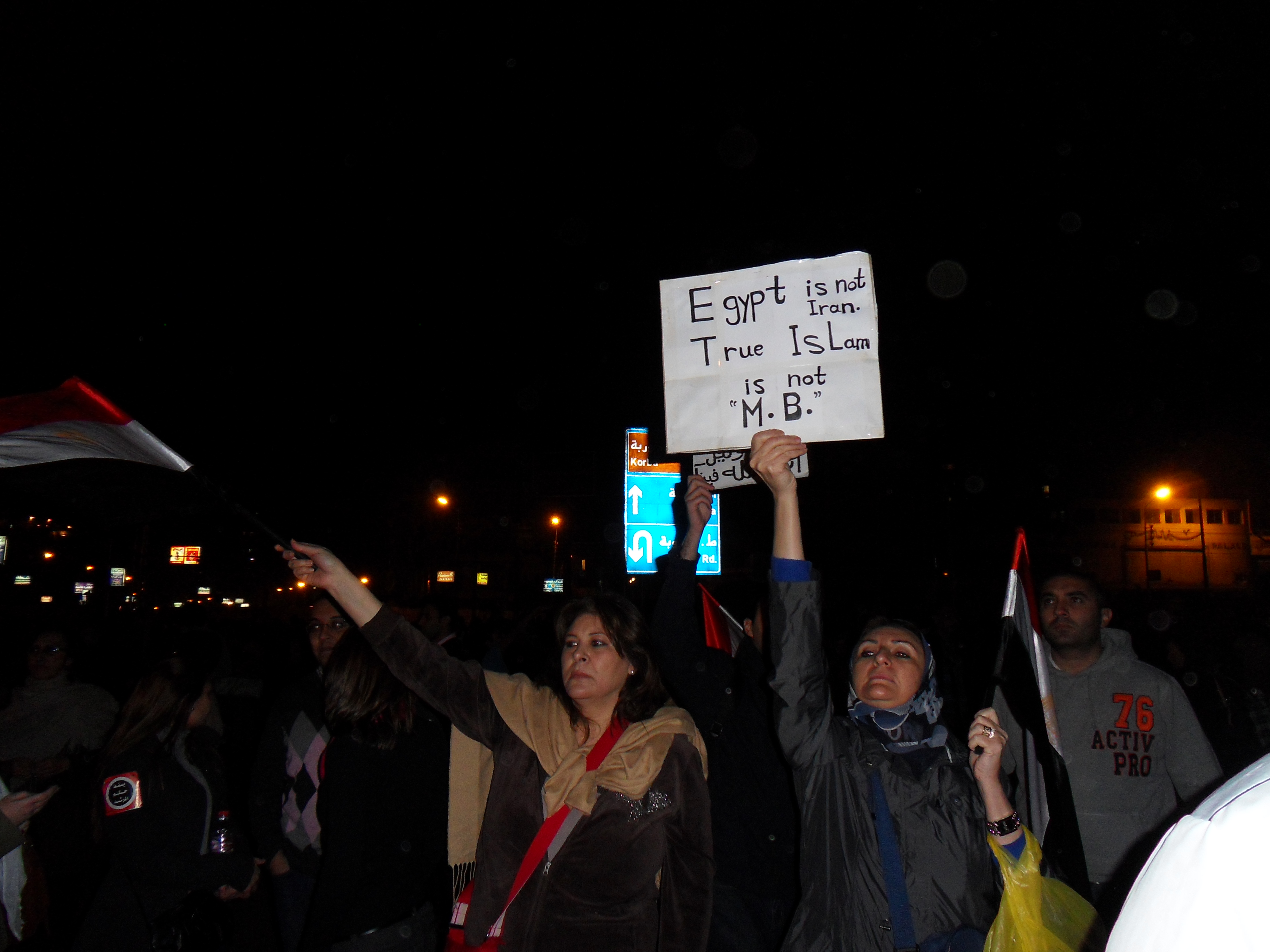 The women protesters were very passionate tonight and made sure their voices were being heard.