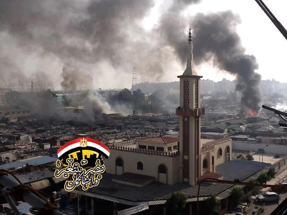 This is not Gaza, or Pakistan, or Iraq, but it might as well be. This is the city of Port Said in Cairo on January 26.