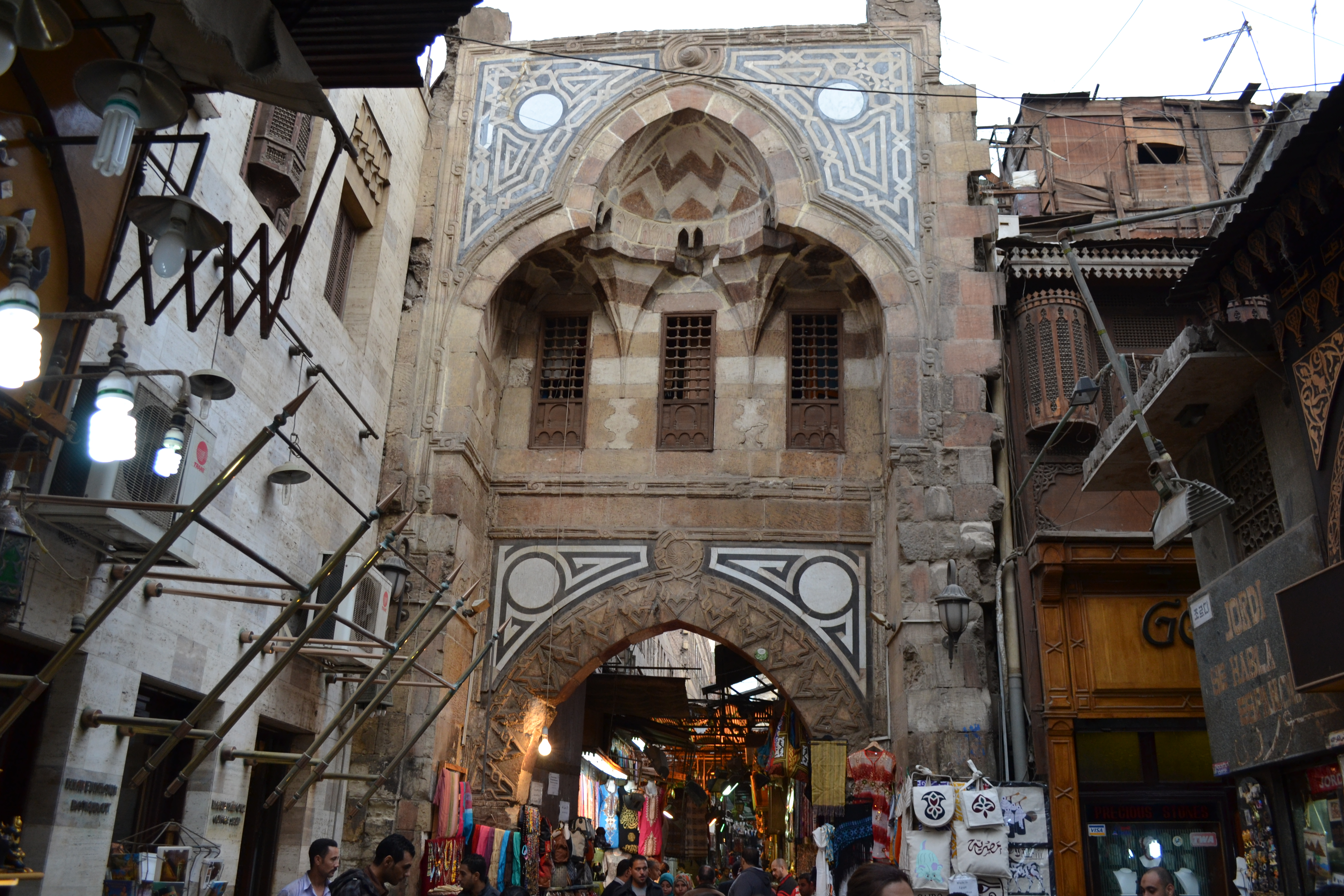 One of the many historical Islamic buildings in Khan El-Khalili