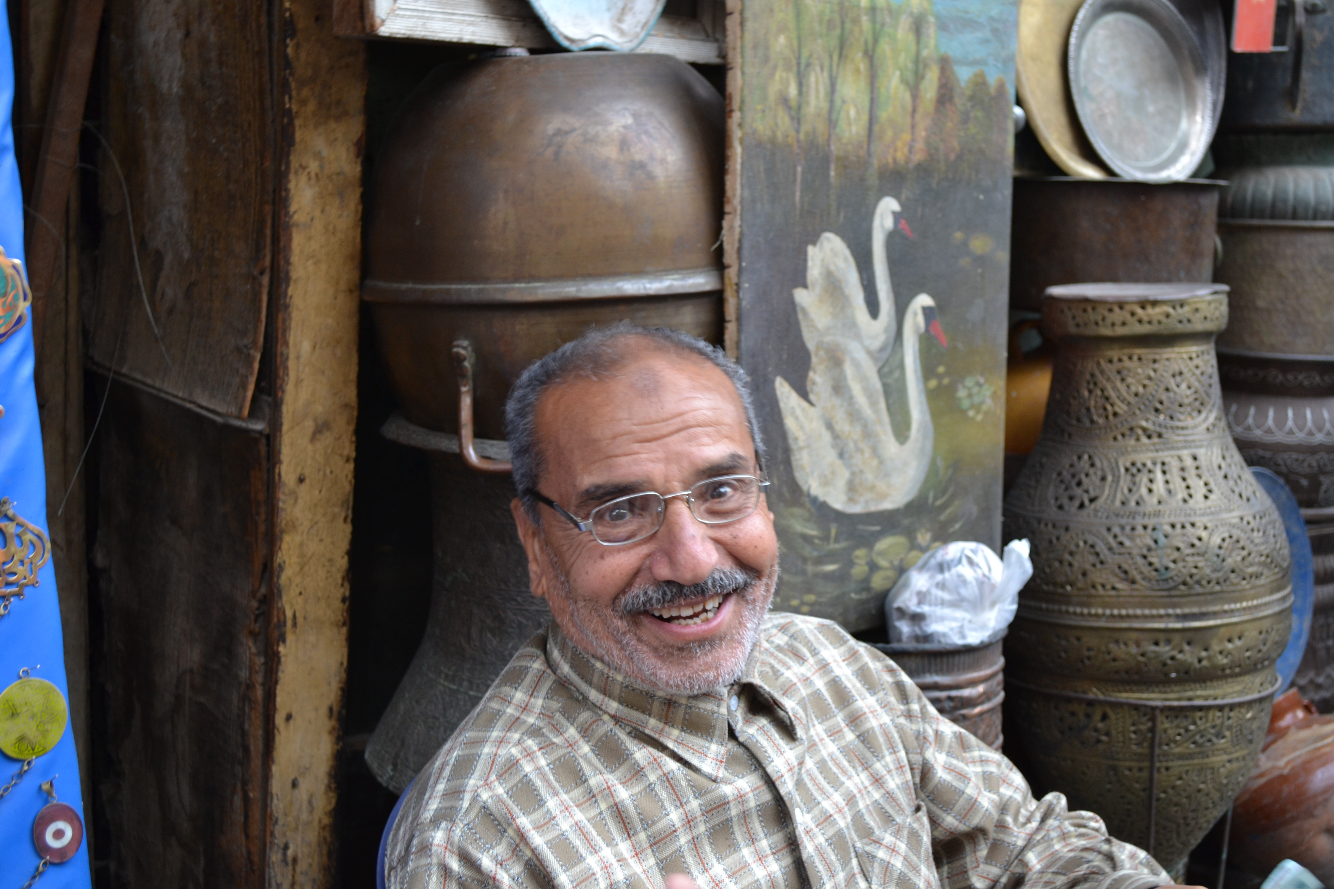 One of the many kind shop owners at Khan El Khalili. His grandfather opened it more than 60 years ago.