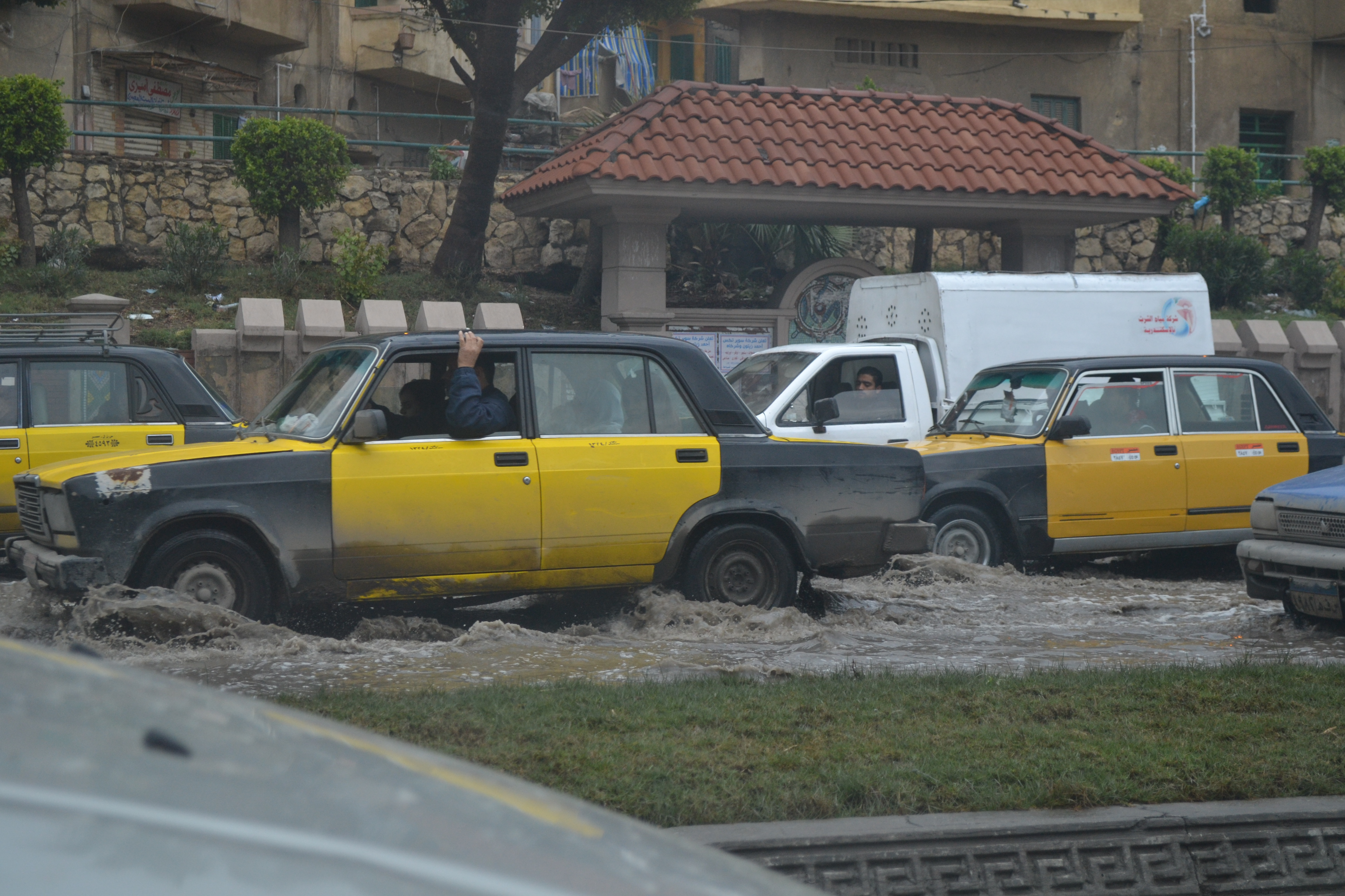 Lack of proper sewage makes driving after it has rained (very little rain) a horrible endeavor. Bridges, tunnels, and simple roads remain flooded for days.