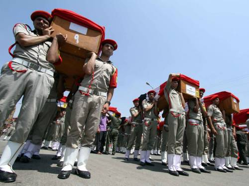 Funeral for the 16 Egyptian Soldiers killed in 2012