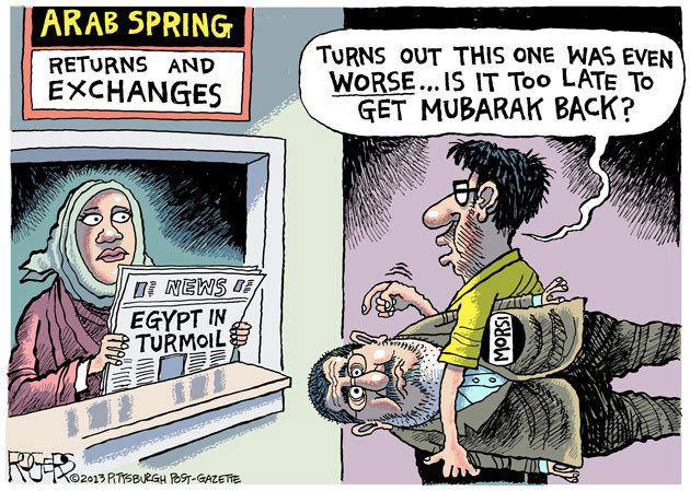 Morsi is definitely worse than Mubarak...