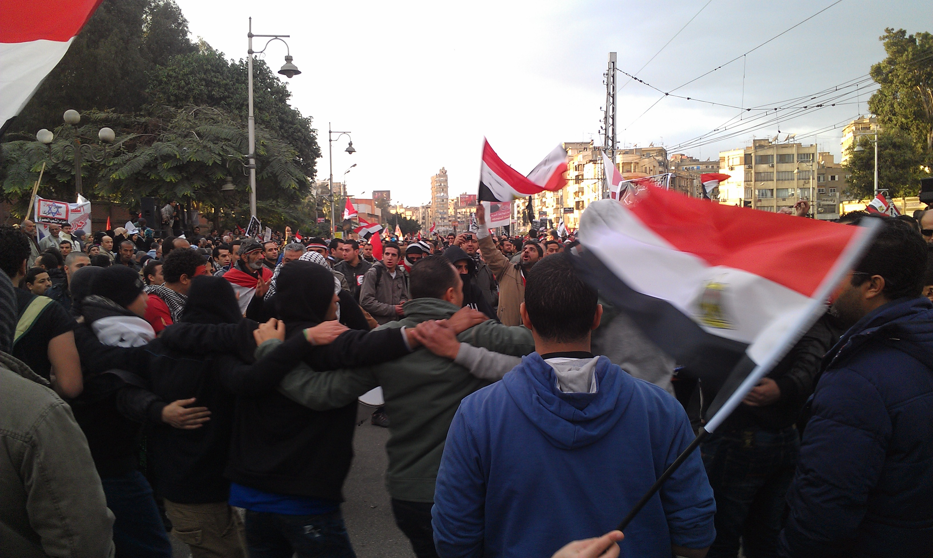 Egyptians sang and chanted against Morsi and the Muslim Brotherhood.