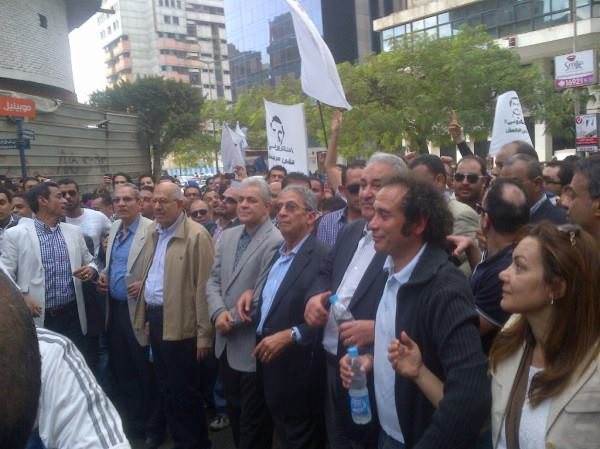 Egypt's top opposition leaders - many who ran for Presidency - stood side-by-side at one of the first Anti-Morsi protests.