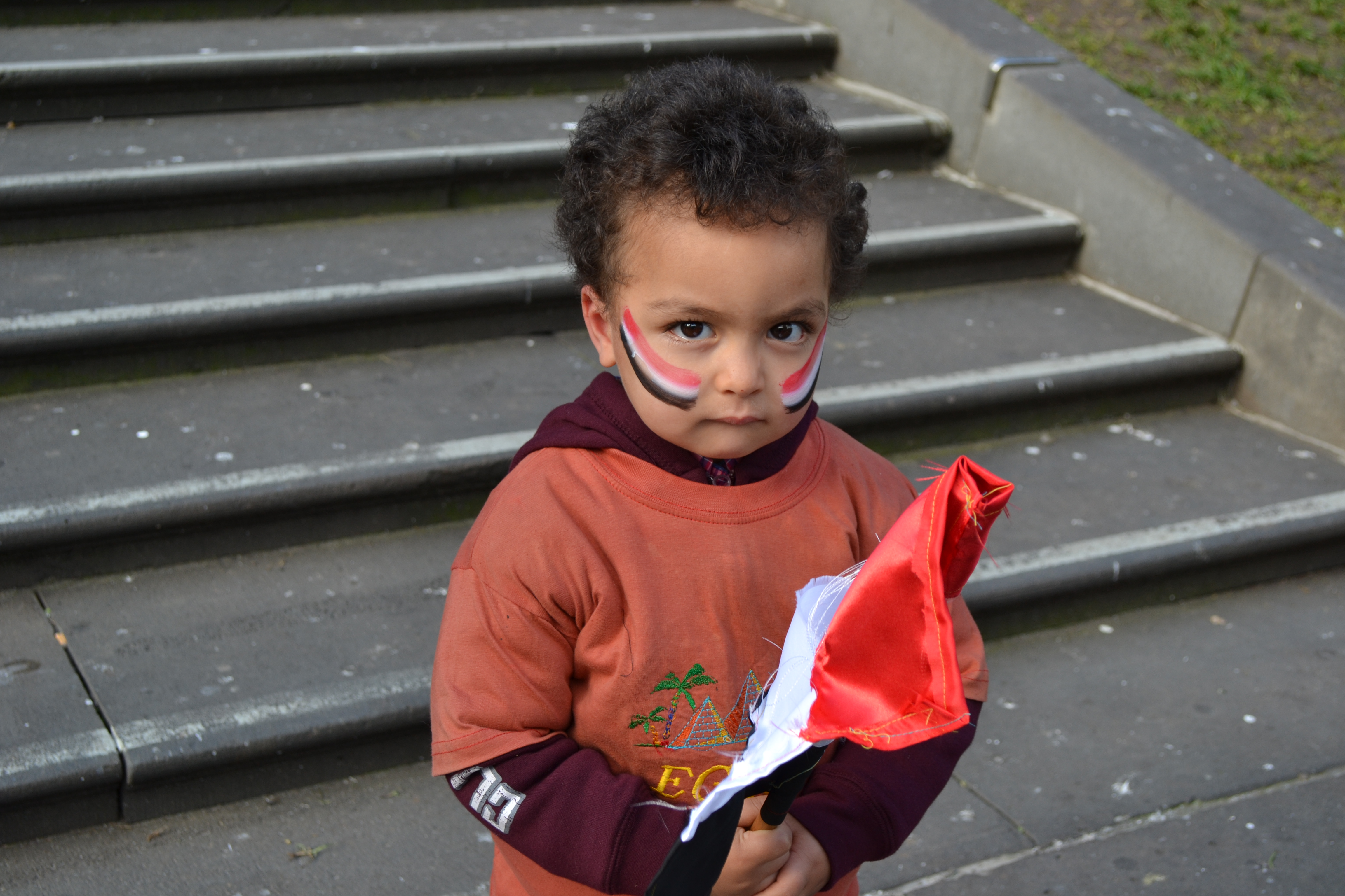 A young Egyptian protester.