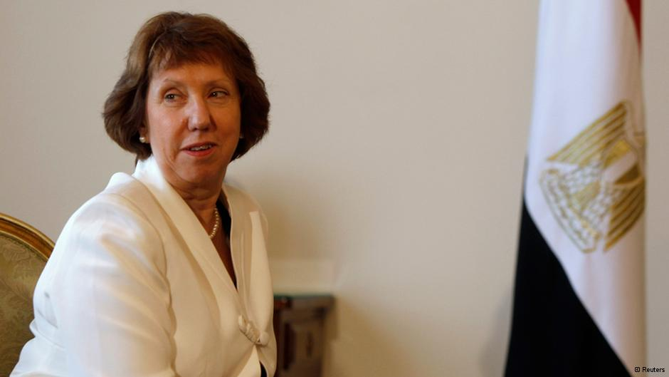 The European Union's foreign policy chief Catherine Ashton in Egypt