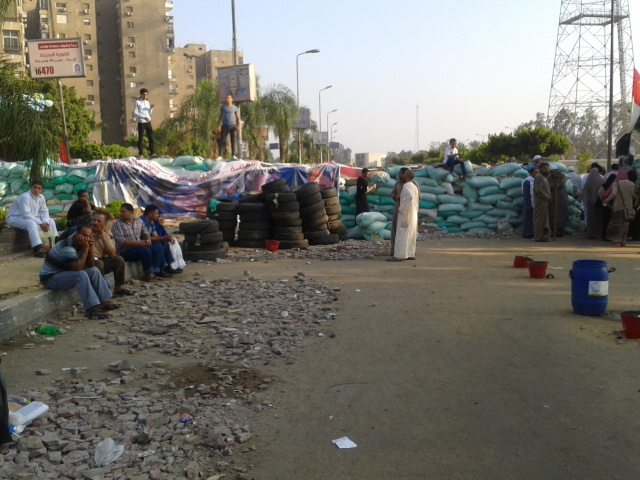 The entrance to Rabaa from Tayran Street