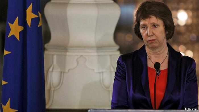 The EU's foreign policy chief Catherine Ashton