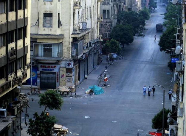 Minutes after the curfew ended in Cairo yesterday