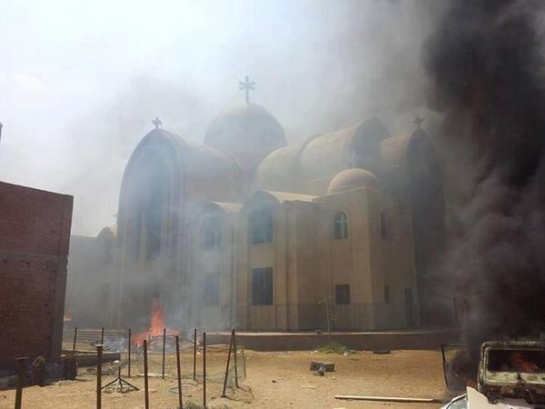 St. Mary's Church in Fayoum attacked, looted in 2013.