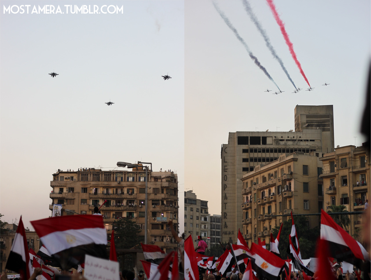 Egypt's fighter jets being put to good use during recent demonstrations