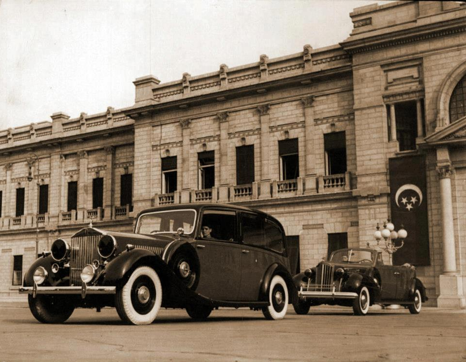 Rolls Royce cars at the Royal Abdeen Palace in 1940s