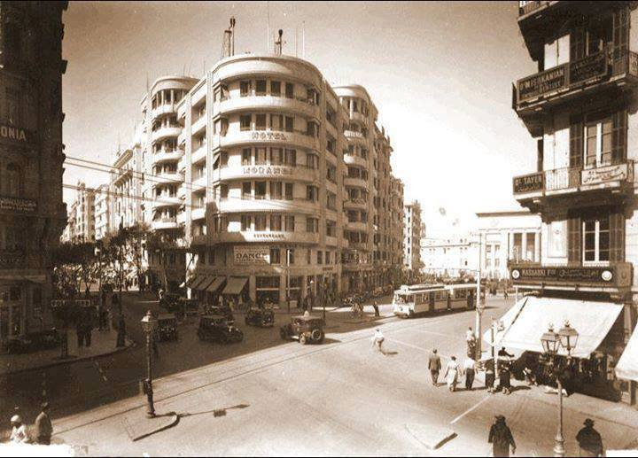 Fouad Street, Cairo in 1935