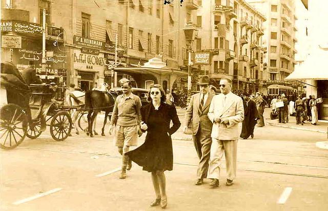 Pedestrians in Cairo, 1941