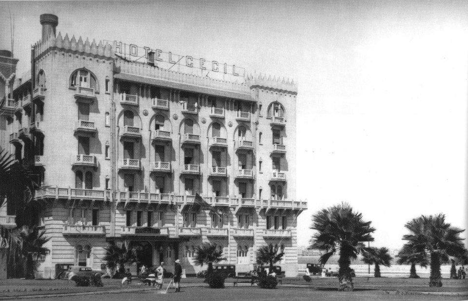 Hotel Cecil in Alexandria in 1920. This was a luxury hotel, highly renowned at the time.