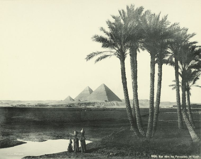 The Pyramids in 1880.