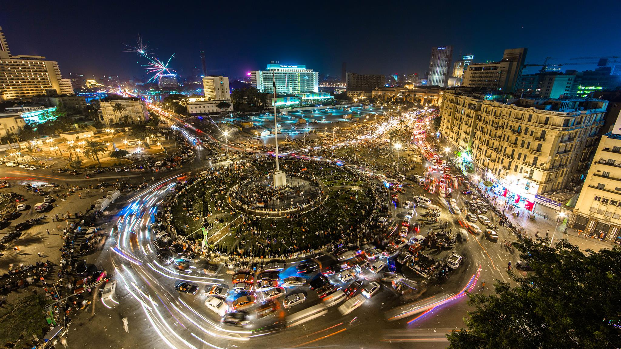 Tahrir Square in 2015. Credit: Hisham Moll