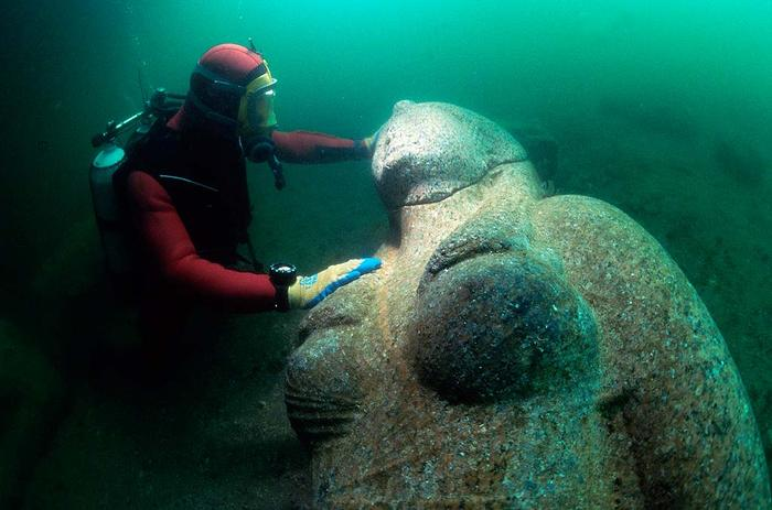 A 4.8 meter statue of an unidentified Ptolemaic queen.