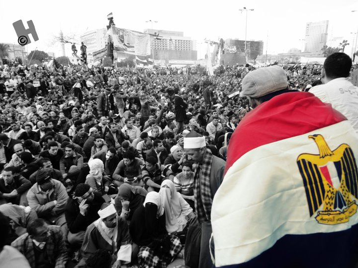 Millions took to the streets on Janaury 25, 2011 to show the strength of the Egyptian people. [Credit: Hisham Showman]