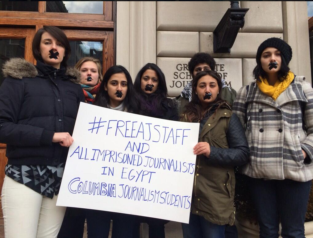 Even students from Columbia University protested (via @SalmaAmer from Twitter).