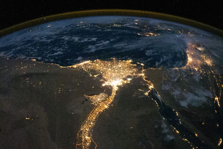 Photograph of Egypt from space by NASA. Should Egypt go to space? Yes.