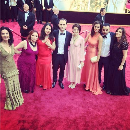 Members of The Square's team on the red carpet.