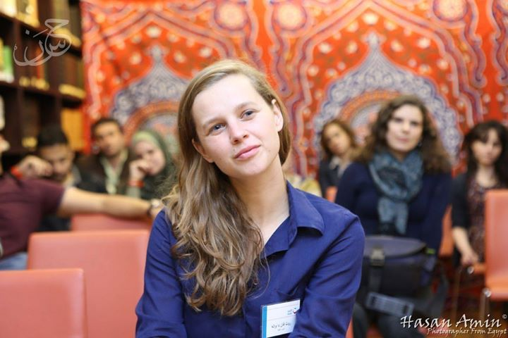 Ruth at the launch of Love Matters Arabic in Cairo