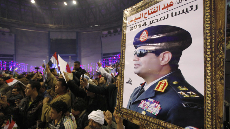 Egyptians started numerous campaigns urging Military Chief Abdel Fattah Al-Sisi to run for President