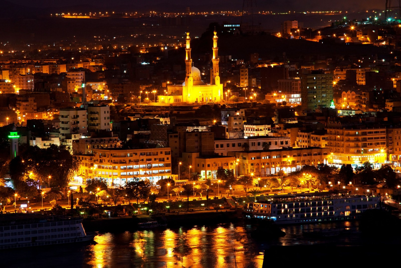 Aswan at night