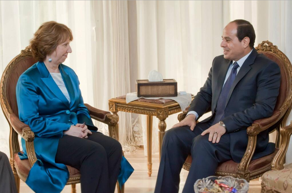 The European Union's Foreign Policy Chief Catherine Ashton recently said Sisi's Presidential bid is 'courageous'