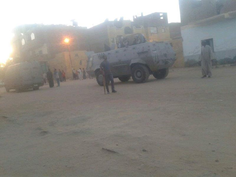 Police deployed on the streets of Al-Seel Al-Reefy where clashes commenced