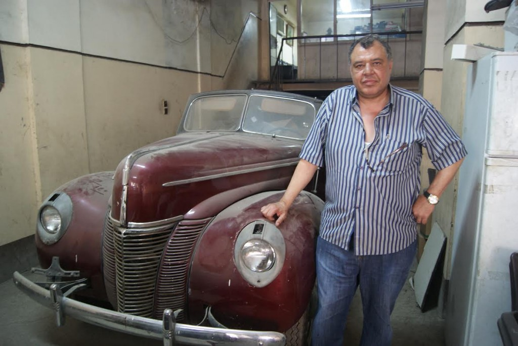 Sayed Mohamed, a mechanic on Champillion Street, owns this 1938 Ford