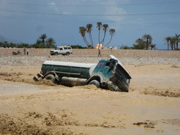 Floods also struck Nuweiba
