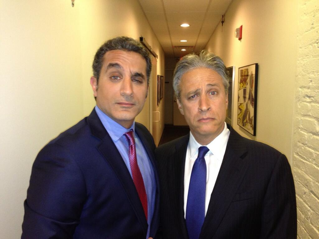 Bassem Youssef and Jon Stewart of the Daily Show have become close acquaintances