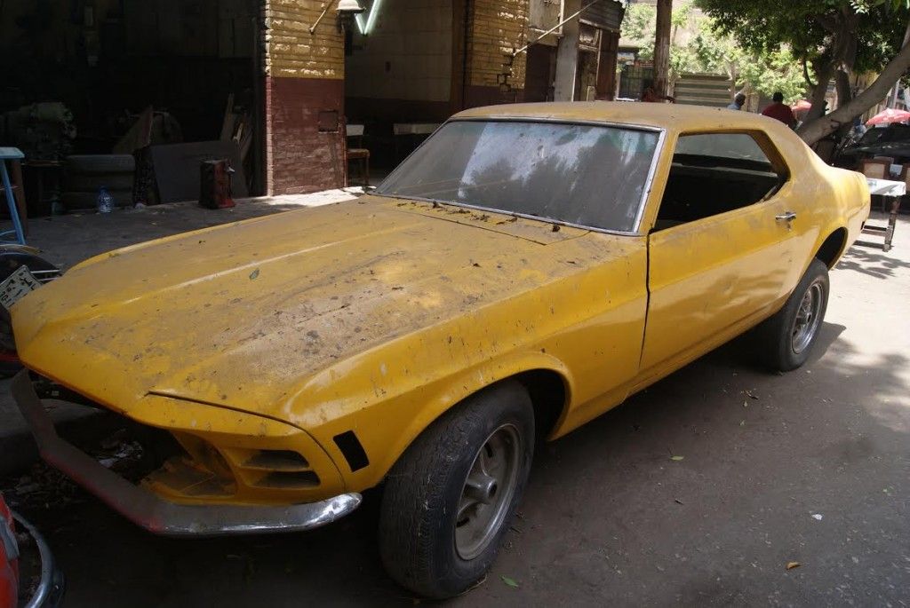 A 1977 Mustang on Champilion Street.