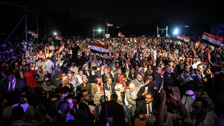 A rally held for Sisi in Cairo on May 11, 2014