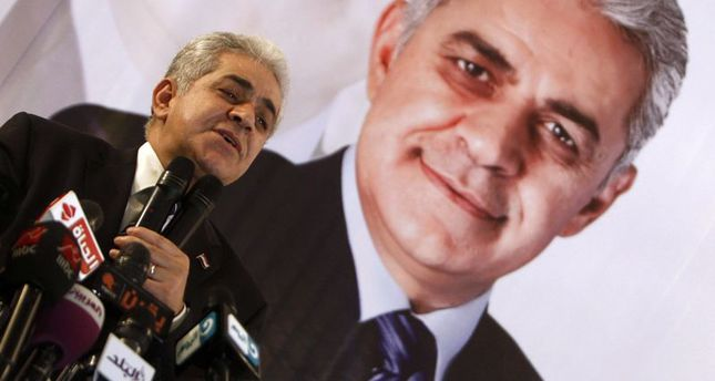 Hamdeen Sabahi speaks during a rally on May 7, 2014. Credit: Reuters