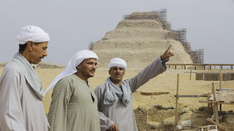 Saqqara - the site of a newly-discovered tomb dating back to 1,100 BC. Credit: Amr Nabil/AP