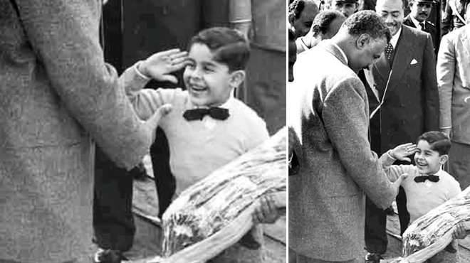 Sisi saluting Nasser as a child