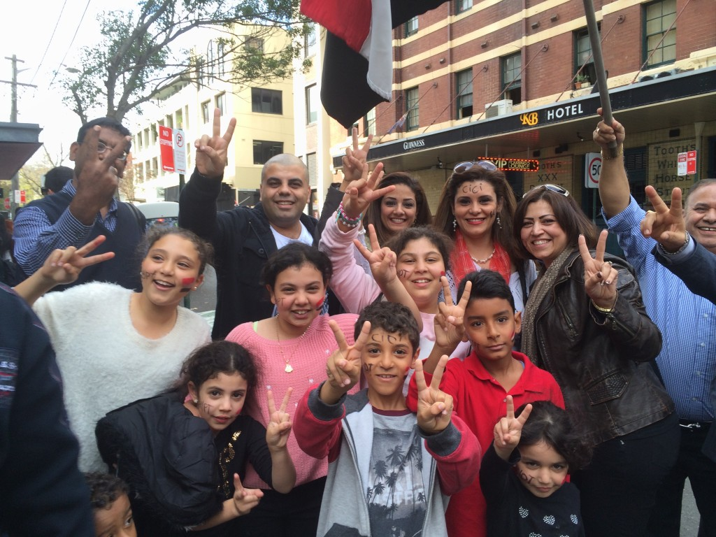 Egyptian voters in Sydney, Australia. Credit: Anthony Hanna