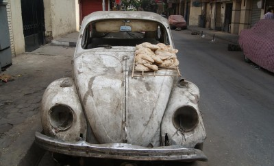 This Volkswagen has been rotting in Mostafa Basha Kamel, Cairo.