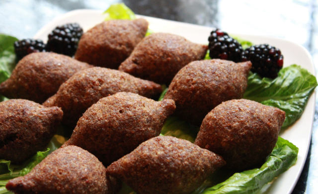 "Torpedo shaped ""Kibbeh"""