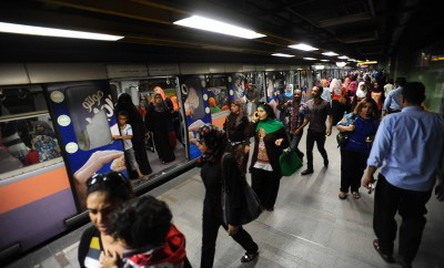Cairo metro station during rush hour. Photo: Ahmed Al-Malky