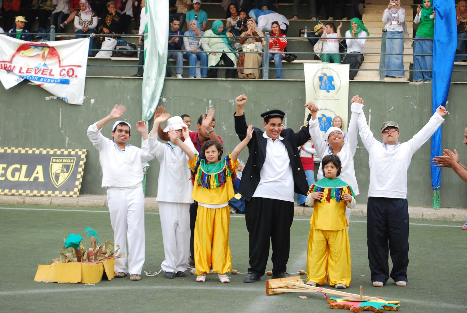 A Sport's Gala hosted by the Wadi Degla Sports Club in Al-Maadi for Autistic patients.