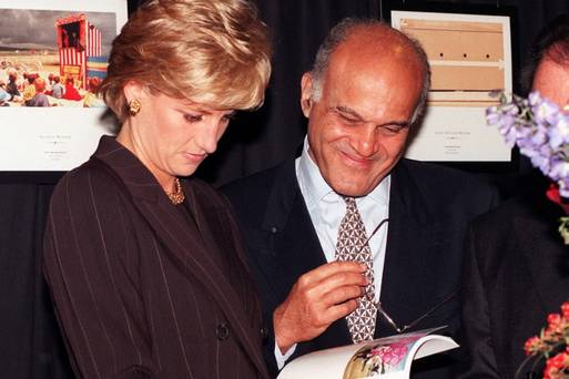 Professor Sir Magdi Yacoub with Princess Diana.
