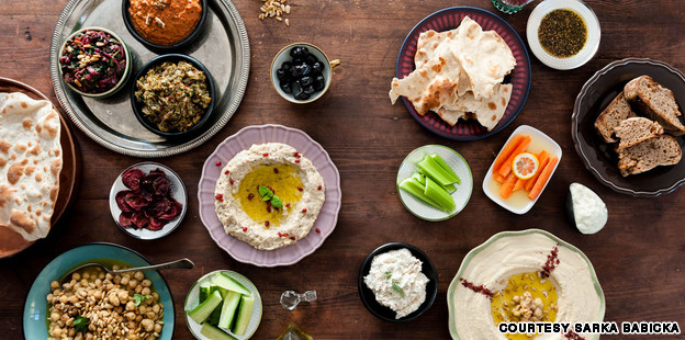 Beautiful display of some of the most popular Middle East flavors that worthy of eating alone.