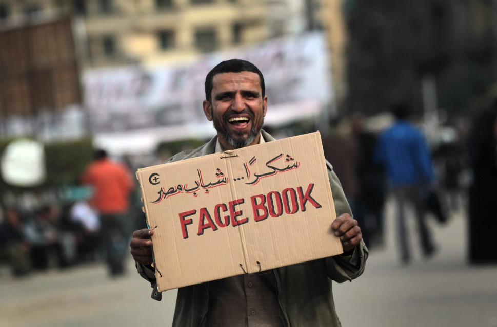 Social media was seen as an important tool of dissent during the 2011 revolution (Photo by John Moore/Getty Images)